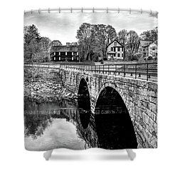 Green Street Bridge In Black And White Shower Curtain