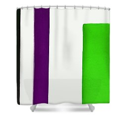 Green To The Right Shower Curtain