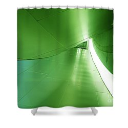 Shower Curtain featuring the photograph Green Tunnel. Los Angeles Series. by Ausra Huntington nee Paulauskaite