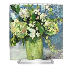 Green Vase Shower Curtain