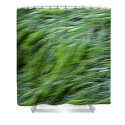 Green Waterfall 2 Shower Curtain by Serene Maisey