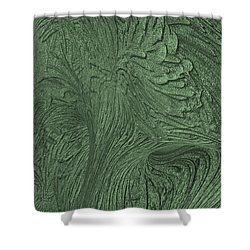 Green Wind Shower Curtain