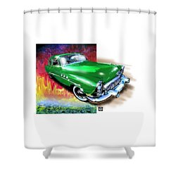 Green With Envy Shower Curtain