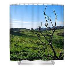 Shower Curtain featuring the photograph Greenery In The Hills Landscape by Matt Harang