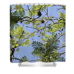 Greenery Left Panel Shower Curtain