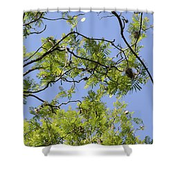 Greenery Right Panel Shower Curtain