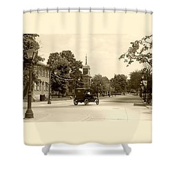 Greenfield Village Scene Shower Curtain by Ellen O'Reilly