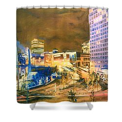 Greengate, Salford, Manchester At Night Shower Curtain