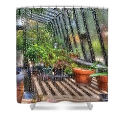 Greenhouse - In A Greenhouse Window  Shower Curtain by Mike Savad