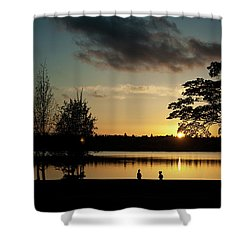Greenlake Evening Shower Curtain