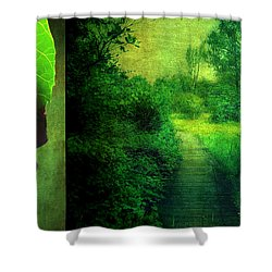 Greens Shower Curtain by Aimelle