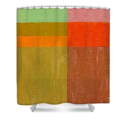 Greens And Reds Shower Curtain