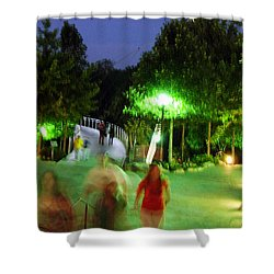 Greenville At Night Shower Curtain by Flavia Westerwelle
