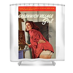 Shower Curtain featuring the painting Greenwich Village Girl by Photo Cover
