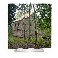 Shower Curtain featuring the photograph Greer Spring Mill 1 by Marty Koch