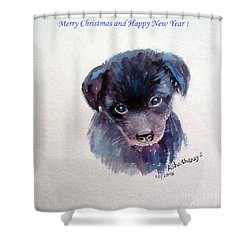 Greeting Card 2 Shower Curtain