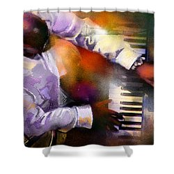 Greg Phillinganes From Toto Shower Curtain by Miki De Goodaboom