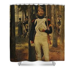 Shower Curtain featuring the painting Grenadier Of The Old Guard by Celestial Images