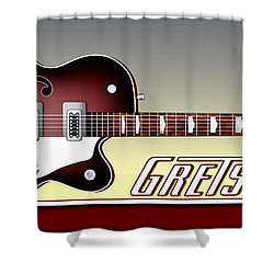 Gretsch Guitar Shower Curtain by Anthony Citro