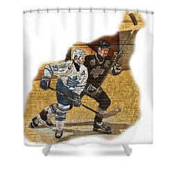 Gretzky And Gilmour Shower Curtain by Andrew Fare