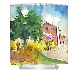 Greve In Chianti In Italy 01 Shower Curtain by Miki De Goodaboom