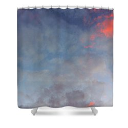 Pink Flecked Sky Shower Curtain by Linda Hollis