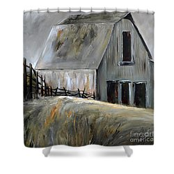 Grey Barn Shower Curtain