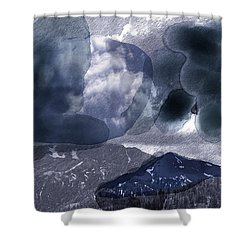 Grey Clouds Shower Curtain