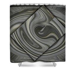 Grey On Grey Shower Curtain