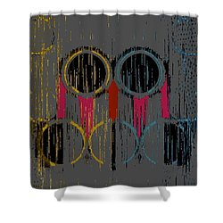 Grey Rings Shower Curtain