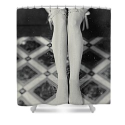 Grey Stockings #6477 Shower Curtain