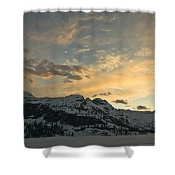 Grey Wolf Lake Shower Curtain