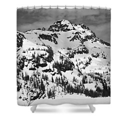 Grey Wolf Peak, Mission Mountains Shower Curtain