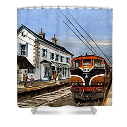 Greystones Railway Station Wicklow Shower Curtain