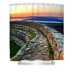 Grianan Fort Sunset Shower Curtain