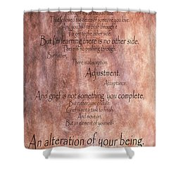 Shower Curtain featuring the mixed media Grief 1 by Angelina Vick