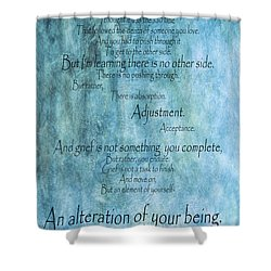 Shower Curtain featuring the mixed media Grief 2 by Angelina Vick
