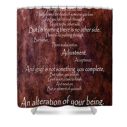 Shower Curtain featuring the mixed media Grief 3 by Angelina Vick