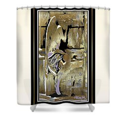 Grief Angel - Light Border Shower Curtain