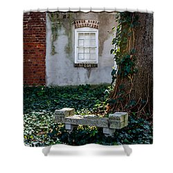 Grieving Bench At St. Philip's Cemetery Shower Curtain