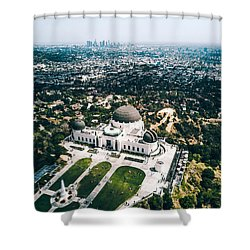Griffith Observatory And Dtla Shower Curtain