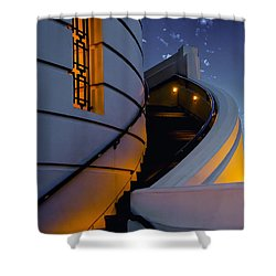 Griffith Observatory Side Entrance Shower Curtain