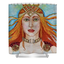 Brigidd Of The Sacred Flame Shower Curtain