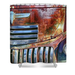 Grilling With Rust Shower Curtain