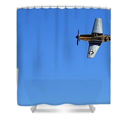 Grim Reaper.  P51d.  Not Just Your Father's Show Plane Shower Curtain