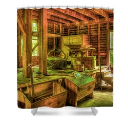 Shower Curtain featuring the photograph Grindingworks Mingus Mill Great Smoky Mountains Art by Reid Callaway