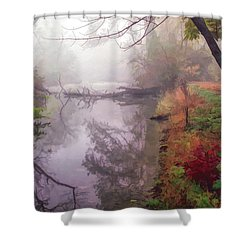 Grings Mill Fog 015 Shower Curtain