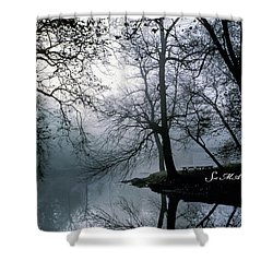 Grings Mill Fog 1043 Shower Curtain