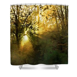 Grings Mill Fog 15-039 Shower Curtain