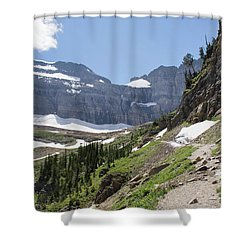 Grinnell Glacier Trail - Glacier National Park Shower Curtain